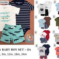 3 in 1 BABY BOY SET - D1 / BABY JUMPER SET / BAJU BAYI / PAKAIAN BAYI