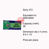 Button Cell - Sony - 373 (SR916SW)