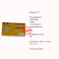 Button Cell - Maxell - 371 (SR920SW)