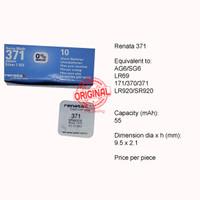 Button Cell - Renata - 371 (SR920SW)