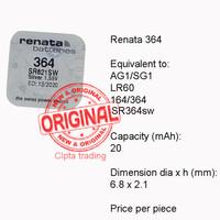 Button Cell - Renata - 364 (SR621SW)