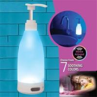 Dispenser botol tempat Sabun cair Sensor Gerak 7 LED Soap Brite