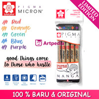 Sakura Pigma Brush Manga set Warna (Pigma Micron Pen Brush Tip Isi 5)