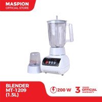 Maspion Blender Plastik 1.5 Liter 2 in 1 MT-1209