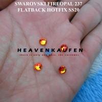 Kristal Swarovski Warna Api / Fireopal 237 Flatback Hotfix SS20 4,6 mm