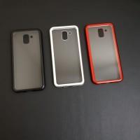 Samsung J6 2018 Premium 2 in 1 magnetic phone case -Transparant
