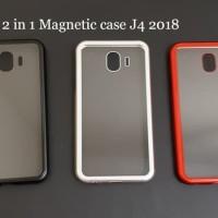 Samsung J4 2018 Premium 2 in 1 magnetic phone case -Transparant