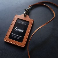 ID Card / Name Tag Holder / Dompet Id Card Kulit - Custom Nama