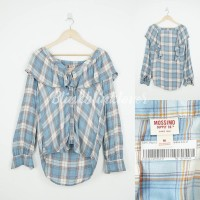 Kemeja Lengan Panjang MOSSIM Plaid Light Blue