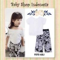 Baju Anak Perempuan Murah Setelan Baju Anak Import Celana Kulot Bunga