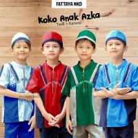 Koko Azka, Fattaya, baju taqwa, baju muslim, setelan koko anak