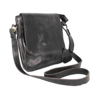 Shoulder Bag Kulit Stefano Black