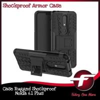 Nokia 6.1 Plus X6 Rugged Armor hard Soft Case Cover Casing Full Protec
