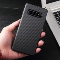Samsung Galaxy S10 Plus Softcase Carbon Back Soft Case Cover Casing