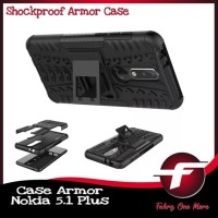 Nokia 5.1 Plus X5 Rugged Armor hard Soft Case Cover Casing Full Protec