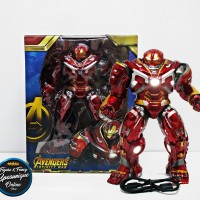 Action Figure Avengers Hulkbuster Infinity War Statue with LED