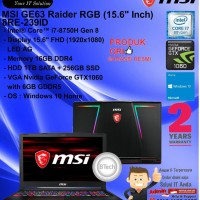 MSI GE63 Raider RGB 8RE-239ID Core i7-8750H/16GB/1TB+256GB/VGA/W10HOME