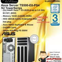 ASUS Server TS500-E8-PS4 (2x)Intel Xeon E5-2620v4/16GB/480GB/DVDRW/3YR