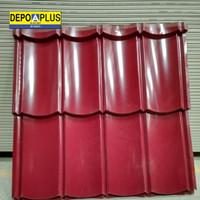 genteng metal polos Aplus merah carita murah