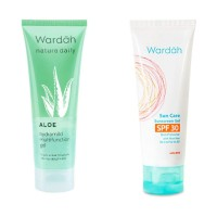 Wardah Aloe Hydramild Multifunction Gel + Wardah Sunscreen Gel