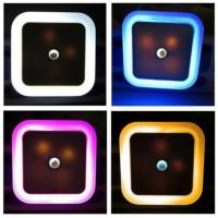 Lampu Tidur LED Sensor Cahaya EU Plug - Putih