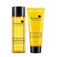 Pureheals Propolis Foam Cleanser 100ml + Softening Toner 125ml