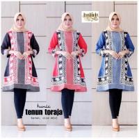 Tunic Tenun Toraja Tunik Batik Cantik Tunik Batik Kerja Muslim Seragam