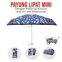 Payung Lipat PYT011 Hewan Navy Mini Premium Anti UV dan Waterproof