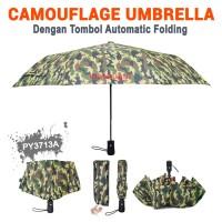 Payung Lipat Magic 3D Camouflage PY3713A HijauAutomatic Folding Button