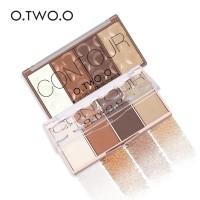 O TWO O 4 Shades Contour Blusher Highlighter Palette Original
