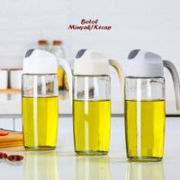 Botol Minyak / Kecapp (Ada tutupnya, bahan kaca tebal)