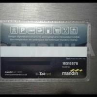 BEST ELLER KARTU E-TOLL MANDIRI HITAM TULISAN E-TOLL CARD - SALDO RP