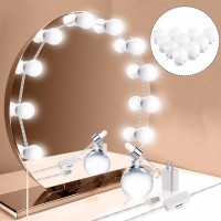 RARE Hollywood Style Makeup Mirror LED Vanity Lights Kit with 10