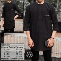 Baju Muslim Kurta Pakistan Original, Bahan Adem, hitam2