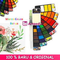 Superior Watercolor Cake Set 42 / Watercolor 42 Warna / Cat Air