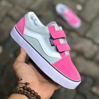 Vans Old Skool Kids /sepatu anak abu pink