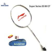 NEW !! Raket Badminton Lining Super Series SS 88 G7 / SS88 Gen7 White