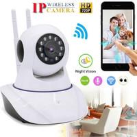 Ip Camera CCTV Wifi Wireless Kamera 2 Antena P2P HD 720p Night Vision