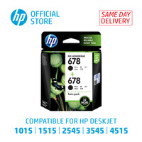 HP 678 BLACK INK CARTRIDGE 2- PACK [L0S23AA]