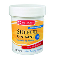 De La Cruz 10% Sulfur Ointment Acne Medication, Allergy-Tested