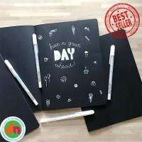 Black Paper Plain Notebook / Buku Catatan Kertas Hitam