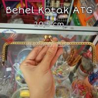 Behel Dompet Kotak 20,5cm ATG Antigold Emas Bakar / Frame Tas