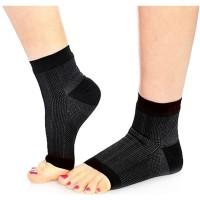 Kaos Kaki Pijat Kesehatan Anti Lelah Foot Angel Anti-Fatigue - Hitam