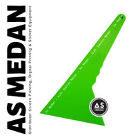 Rakel Kape SUPER-D Long Apple Green   Alat Stiker Kaca Film