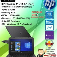 "HP Stream 11 (11.6"" Inch) Intel Celeron N4000/4GB/128GB/WIN10PRO/1YR"