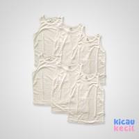 Kazel Singlet White – 6in1 - kaos dalam anak