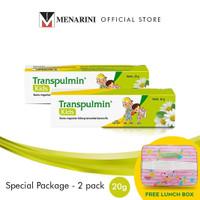 Transpulmin Kids Balsam Special Package 2 pc - @20gr Free Lunch Box