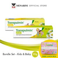 Transpulmin Kids Baby Balsam Paket 2 Pc - @20gr Free Lunch Box