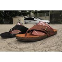 sandal Kulit Pria Zeger - ViKing 956 - Hitam, 40