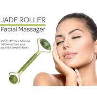 Jade Roller 2 Sisi Alat Pijat Wajah Batu Giok Anti Aging Facial K187